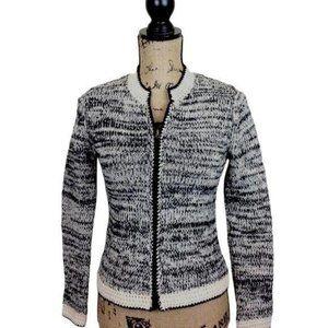 J Jill Wool Cardigan Zip Front-Sweater N803